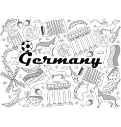 Germany coloring book vector image vector image
