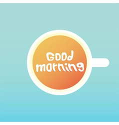 Good morning coffee vector
