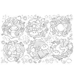 Halloween concept hand drawn doodle vector