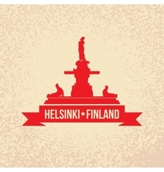 Havis Amanda the symbol Of Helsinki Finland vector image