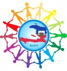 help haiti vector image vector image