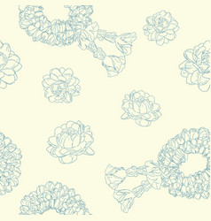 jasmine flower and garland seamless pattern vector image