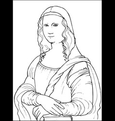 Mona lisa coloring vector