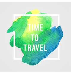 Motivation poster time to travel vector