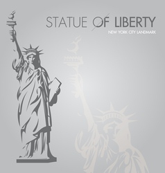 New york silouette symbol vector image