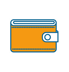 Orange wallet to save money vector