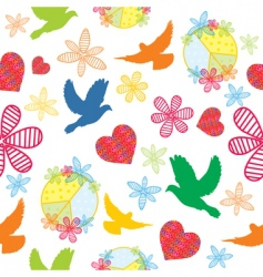 peace seamless background vector image vector image