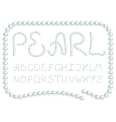 pearl alphabet vector image vector image