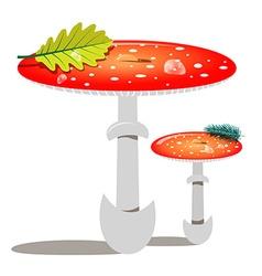 Red Mushroom - Amanita vector image vector image