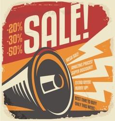 Retro sale poster design concept vector image vector image