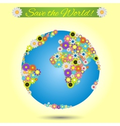 Save the world vector image vector image