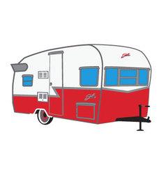 Shasta camper vector