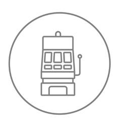 Slot machine line icon vector image vector image