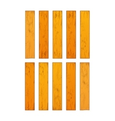 Ten realistic different wooden boards isolated on vector image