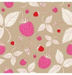 Vintage raspberry pattern background vector