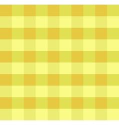 Yellow checkered cloth vector image