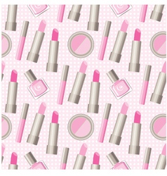 Seamless cosmetics pattern vector