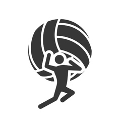 Ball volleyball sport design vector