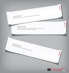 Collection of various white papers vector image