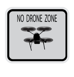 Image drone caption no drone zone vector