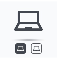 Computer icon notebook or laptop pc sign vector