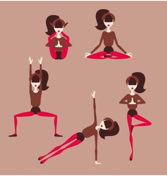 woman doing yoga vector image