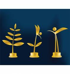 trophy illustration vector image