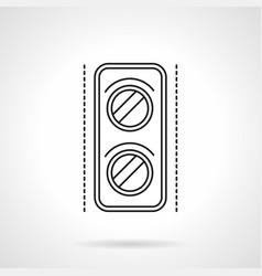 railway traffic light flat line icon vector image