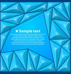Background with triangles blue vector