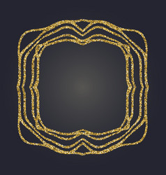 Art nouveau gold glitter frame art deco border vector