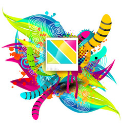 creative template multicolor background abstract vector image