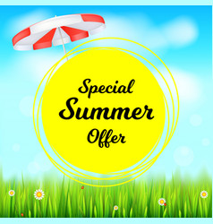 Special summer offer selling ad banner holiday vector