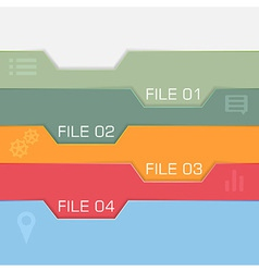 Flat interface design - files to choose vector