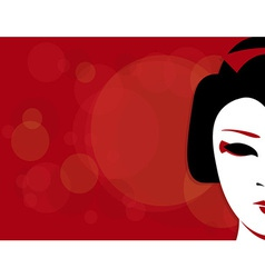 geisha background vector image