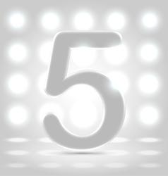 5 over back lit background vector image vector image