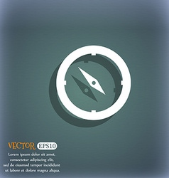 Compass sign icon windrose navigation symbol on vector