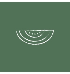 Melon icon drawn in chalk vector
