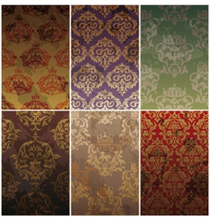 Seamless vintage backgrounds vector