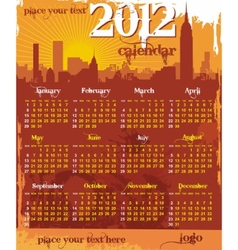 grunge urban calendar 2012 vector image