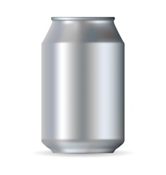 Big realistic can vector image