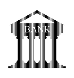 Bank sign on white vector