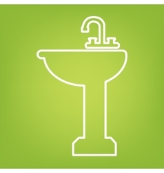 Bathroom line icon vector