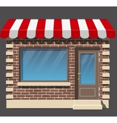 Shop icon Flat design vector image