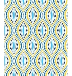 Blue and yellow decorative pattern vector