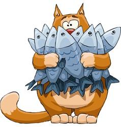cat fish vector image
