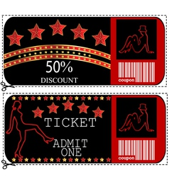 Ticket sale voucher vector