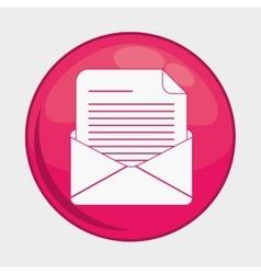 Envelope button icon social media design vector