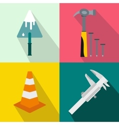 Architecture banners set flat style vector