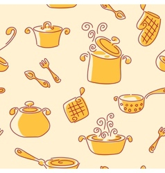 Seamless utensil pattern vector