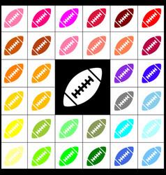 American simple football ball felt-pen 33 vector